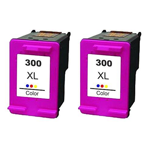 Set de 2ECS REMANUFACTURADO color cartucho de tinta reemplazar 300X L para HP DeskJet impresora D1660D2560D2660D5560F2420F2423F2430F2476F2480F2483F2488F2492F2493F4210F4272F2492F4280F4580F4224Photosmart C4610C4635C4640C4650C4670C4673C4680C4683C4685C4688C4740C4780C4783C4785C4788C4793C4795C4798C4799