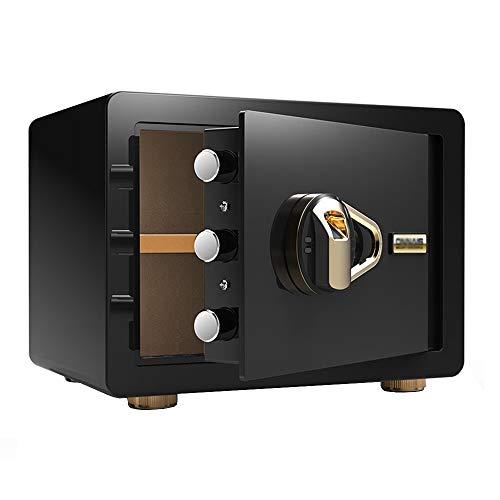 GYH Tresore Safes, Fingerprint Password Closet Versteckte Anti-Diebstahl-Aufbewahrungsbox 25CM Ganzstahl-Mini-Haushaltskasse Möbeltresor (Color : Style3)