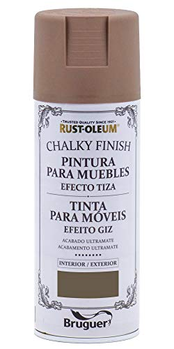Rust-Oleum Spray Chalky Finish Cacao 400 ML BRUGUER, Negro