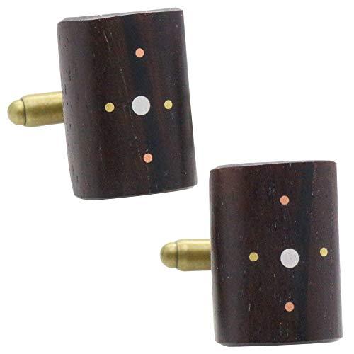 ローズウッド 紫檀 オリジナル 手作り木工 カフス カフスボタン カフリンクス 117