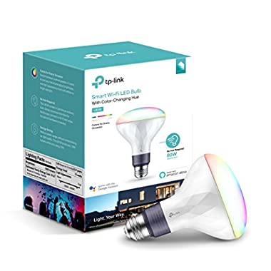 Kasa Smart Wi-Fi LED Light Bulb by TP-Link - Multicolor, Dimmable, BR30, No Hub Required, Works with Alexa and Google Assistant (LB230)