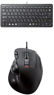 エレコム 有線超薄型ミニキーボード TK-FCP096BK & エレコム USBトラックボール(親指操作タイプ) M-XT3URBK セット
