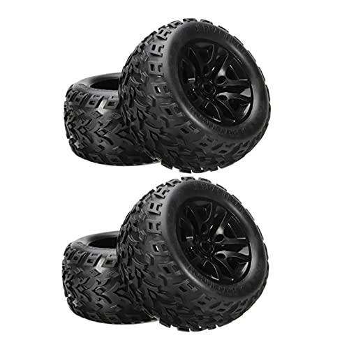 UJETML (H) Llantas de Barras Neumático de neumáticos de Rueda Bigfoot EB1002 para 1/10 Accesorios de repuestos RC sin escobillas Ruedas y neumáticos hexagonales de 17 mm. (Color : Style2)