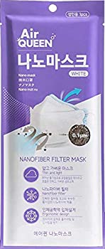Pack of 7 Masks  Air Queen Nano Mask | White | Nanofiber Filter | Ultra Thin | 3-Layer Face Mask for Adults | Individually Packed and Sealed