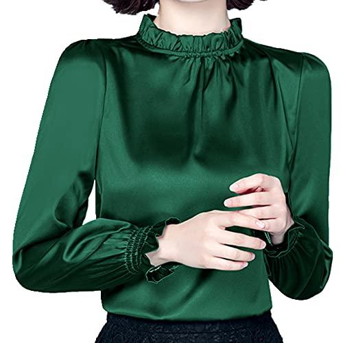 N\P Camisa de manga larga para mujer
