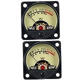 VUパネル レベルメーター 6V〜12V 500μA 高精度 バックライト付 2個 ブラック