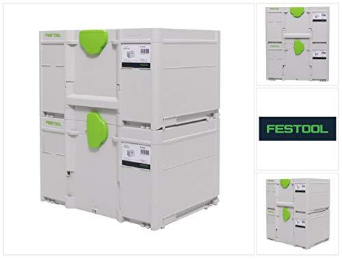 Festool Systainer Set 2x SYS3 M 237 (2x 204843) 21,4 Liter 396x296x237mm Werkzeugkoffer koppelbar