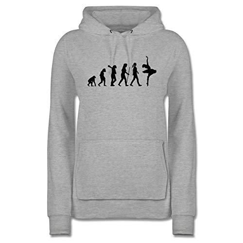 Evolution - Evolution Ballett - L - Grau meliert - Hoodie Damen hellblau - JH001F - Damen Hoodie und Kapuzenpullover für Frauen