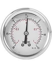 Oumefar Manómetro de vacío TS-PGGZ604-1bar Manómetro de vacío de Alta presión Herramienta de medición BSP