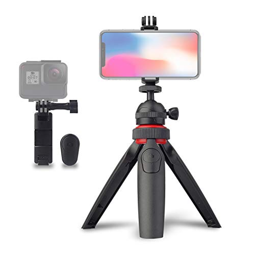 Premium Mini Tripod Camera Holder, Desktop Compact DSLR Table Stand, for Cell Mobile Phone GoPro iPhone