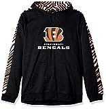 Zubaz NFL Cincinnati Bengals Mens Slub Hoodpullover Hood, Black/Orange, Large