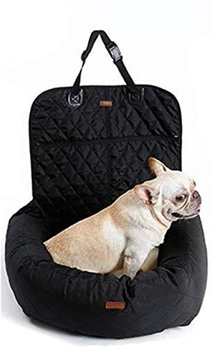 Bqy Autostoelhoes voor honden, multifunctioneel, voor huisdieren, honden, auto, matras voor en achter, gelinieerd, dikte voor huisdieren, mat, 50 x 60 x 60 cm, Zwart