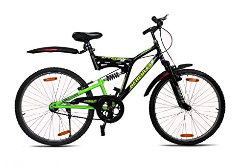 Hercules Sparta ZX 26T Bicycle (Black/Fresh Green)