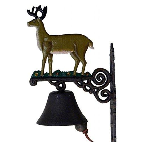 Lujo Pur UG Campana Ciervo Puerta Puerta Casa Timbre de Puerta Antiguo Hierro Decoración de Pared Nostalgie Soporte de Pared