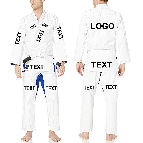 Athllete Jiu Jitsu GI Suitable for Jiu Jitsu/BJJ/Jiujitsu/Judo/Brazilian BJJ, with Preshrunk Fabric for Men & Kids (A4, White)
