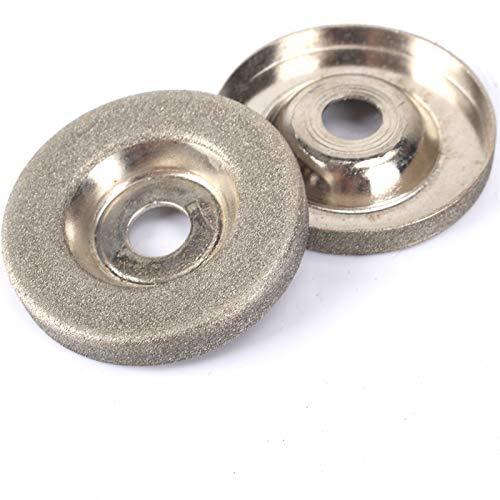 kengbi Rueda de molienda cóncava en forma de taza, 1 unidad de 50 mm de diamante de molienda de taza afiladora de círculo, discos de corte en ángulo para cortar o recortar