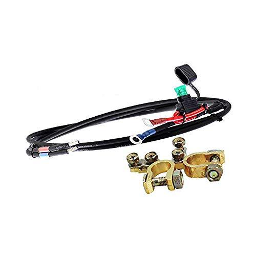 Offgridtec Batteriekabel mit Flachsicherungshalter, 30 A Sicherung und Batteriepolklemmen, 1,5 m, 8-01-001420