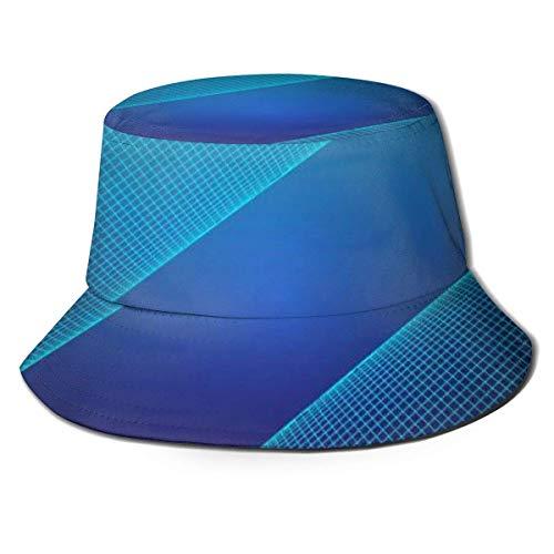 Hdadwy Gorras Estilo de Fondo futurista Sombrero de Pescador Niños Niñas Verano Cubo Sombrero para el Sol Gorra