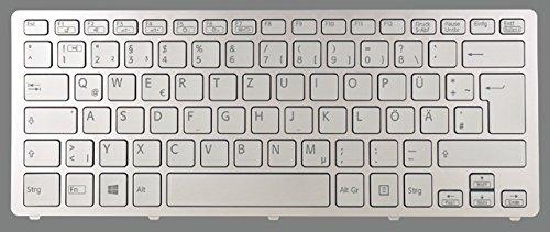 NExpert deutsche QWERTZ Tastatur für Sony Vaio SVF13 SVF13N1J2ES SVF13N1L2ES SVF13N1Y9ES Silber Neu DE