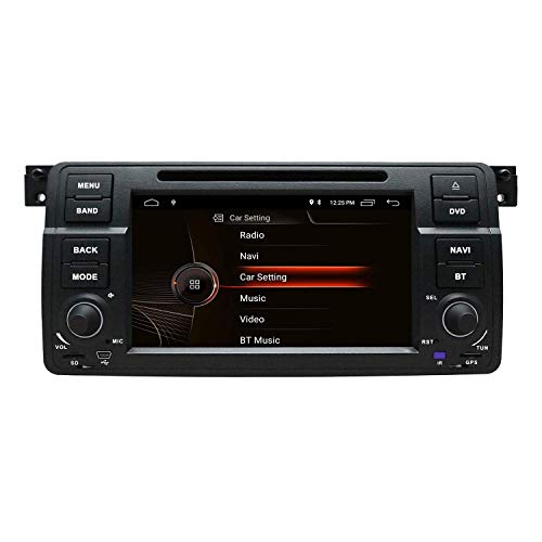 NVGOTEV Car Radio DVD Player Navigation Fits for BMW 3 Series 1999-2004(E46) Auto Audio GPS Bluetooth Multimedia Stereo