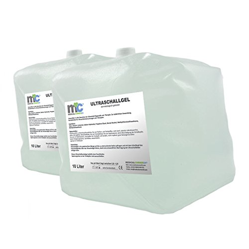 Ultraschallgel - 2x 10kg Cubitainer, 20kg Kontaktgel, Leitgel, Sonogel, Sonographiegel