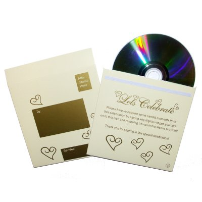 Photo CD with Ivory & Gold Hearts Sleeve (singles) (PCDS_IVORY)