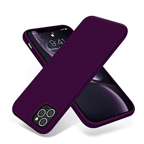 OTOFLY Compatible with iPhone 12 Pro Max Case 6.7 inch(2020),[Silky and Soft Touch Series] Premium Soft Liquid Silicone Rubber Full-Body Protective Bumper Case for iPhone 12 Pro Max (Purple)