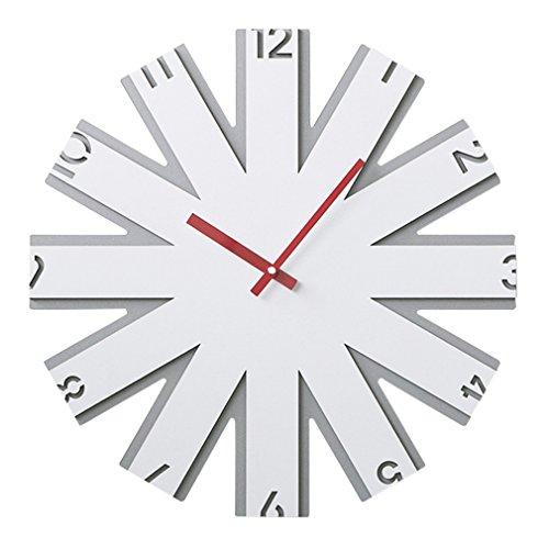 SXXDERTY-Wall Clock Horloge Murale American Retro Horloge Mute n'Tick Son Alimentation par Batterie Salon Chambre à Coucher Digital Horloge Décoration Horloge (Taille : 40,6 cm)