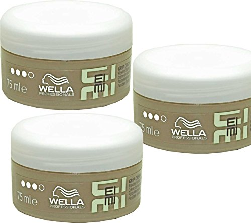 3x WELLA EIMI GRIP CREAM - flexible Styling Creme - 75ml