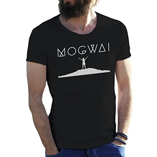 Mogwai Cool Art Logo by Dune Schwarz Herren T-Shirt X Large