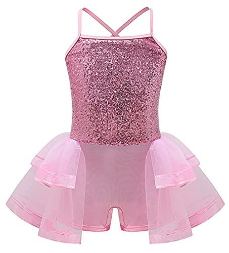 ZRFNFMA Kinder Röcke Prinzessin Kleid Mädchen Tutu Spitzenkleid Mesh Kinder Rock Für Kinder Ballettröcke, rose, M