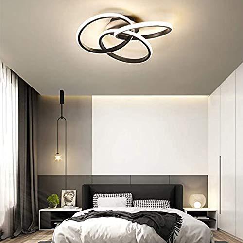 Berkalash Lámpara LED de techo de 58 W, lámpara de araña regulable, lámpara creativa para dormitorio, salón, oficina, estudio, temperatura de color de luz 3500-6000 K