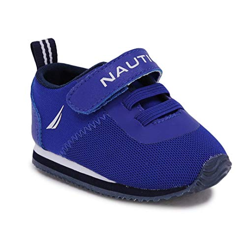 Nautica Infant Baby Shoe with Strap - Prewalker Crib Sneakers - Soft Sole Shoes for Newborn's First Walkers-Tiny Pacifity-Cobalt-1