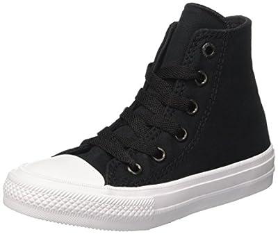 Converse CTAS ll Chuck Taylor All Star HI Almost Black/Pure Silver/White (5 Mens/7 Womens)