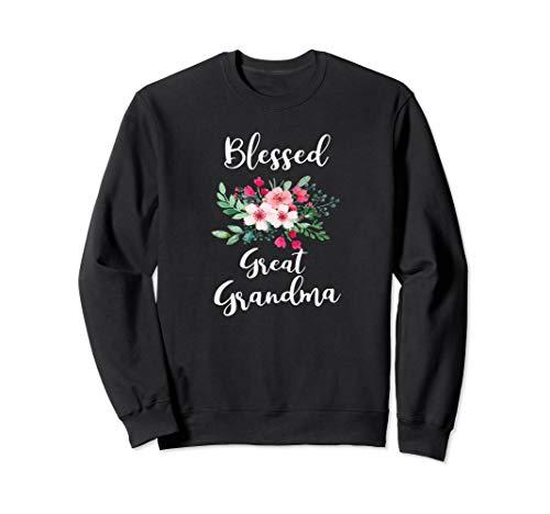 cheap Blessed great-grandmother, bouquet, grandma's gift, sweatshirt