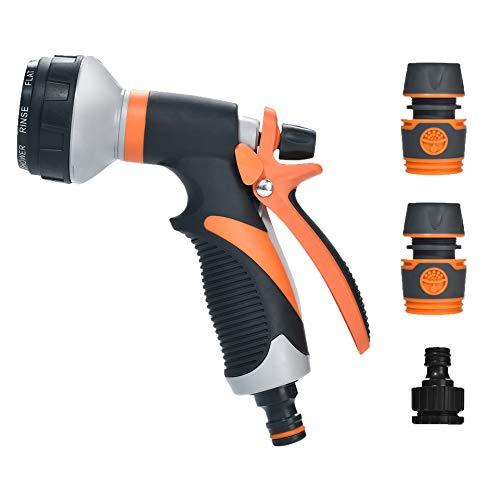 moinkerin Pistola de Riego Pistola Agua Jardin Pistola Manguera para Regar Plantas o Céspedes, Limpiar Mascotas, Limpiar Ventanas