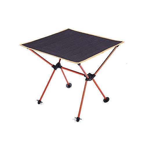 WCY Tragbare Picknick-Tisch im Freien Folding Camping-Tischleuchte Grill Tisch Oxford Cloth Aluminiumlegierung mit Aufbewahrungstasche geeignet for Home Selbstautotour Wandern Kochen yqaae