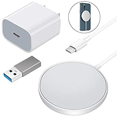 Amazon - 10% Off on Wireless Charger Compatible with Phone 12/11/11 Pro/XS Max with USB-C 20W Adapter