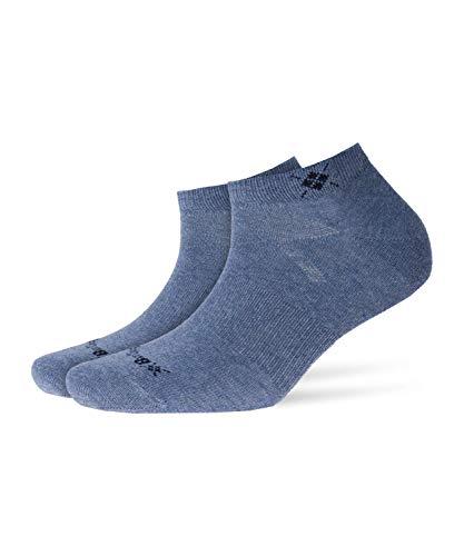 BURLINGTON Damen Sneakersocken Everyday 2-Pack - Baumwollmischung, 2 Paar, Blau (Light Jeans 6662), Größe: 36-41