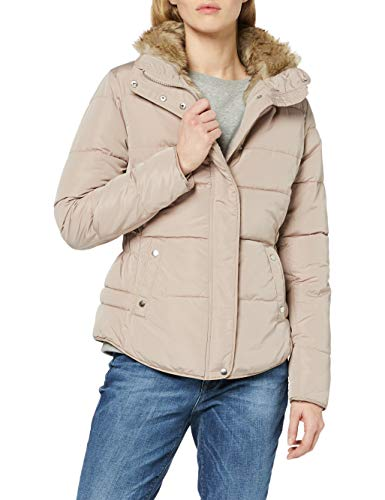 New Look Fitted Padded Manteau, Pink (Mink), 38 Femme