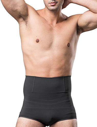 ULEEMARK Calzoncillos Slip Moldeador con Cintura Alta para Hombre Ropa Interior Reductora Faja Moldeadora Adelgazante Cinturón