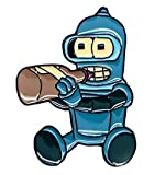 New Horizons Productions Futurama Baby Bender 1 Inch Tall Metal Enamel Pin