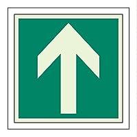 ユニット 避難誘導ステッカー 矢印 824-15 [A061701]