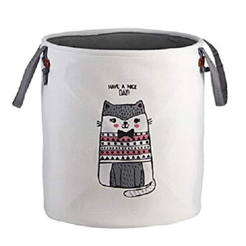 LDGR Laundry Baskets Cute Animal Laundry Basket Foldable Storage Picnic Clothes Dirty Basket Cotton Box Wash Baby Clothes Organizer Box 1 Pcs (Color : British short cat)