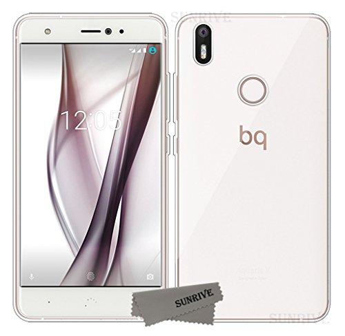 Sunrive Für BQ Aquaris X/X Pro Hülle Silikon, Transparent Handyhülle Schutzhülle Etui Case Backcover für BQ Aquaris X/X Pro(TPU Kein Bild)+Gratis Universal Eingabestift