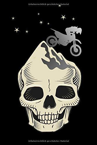 NOTIZBUCH Motorrad Fahrer MOTOCROSS Motorradfahrer MOTORCYCLE SKULL ADVENTURE Motorrad Motor Cross Bike Biker Racer Notebook: Punkterasterpapier - ... A5 (6x9 inches) gift Motorradfahrer Geschenk
