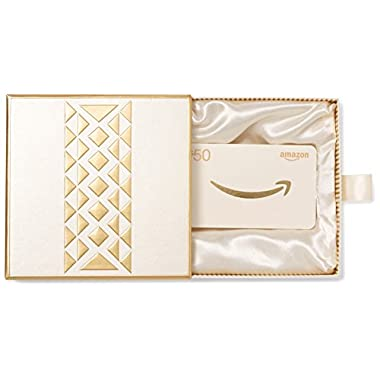 Amazon.com $50 Gift Card in a Premium Gift Box (Gold)