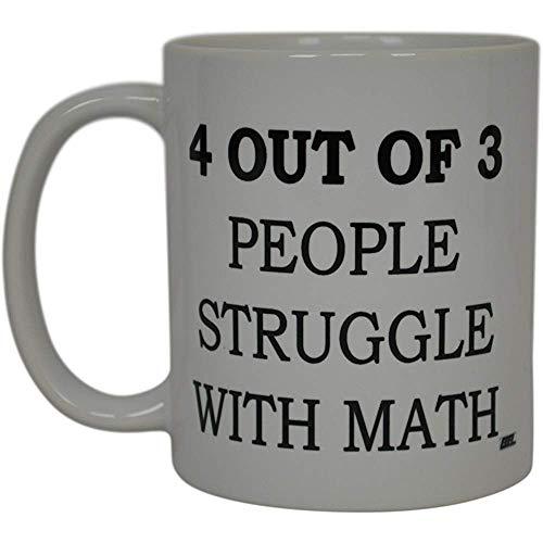 Mathe-leraar-koffiemok 4 van 3 mensen vechten met Mathe-Brech-sarkastisch nieuwigheidsschaal-Witz-groot Gag-cadeau-idee