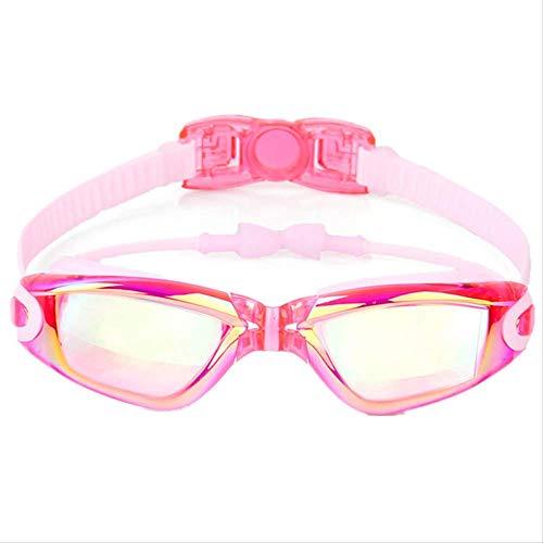 SADSA Gafas de natación Protección Ultravioleta Colorida Anti-vaho Galvanoplastia Niños Gafas de natación Niños Impermeable Silicona Aprender Gafas de natación con tapón auditivo