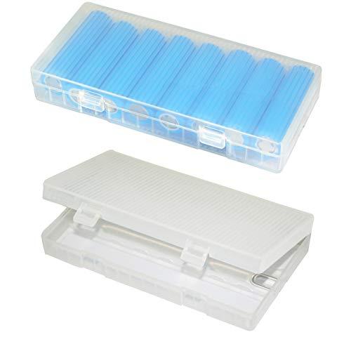 Lontenrea 2 Pack 8x18650 Plastic Battery Storage Case with Hook Holder (2 Pack)